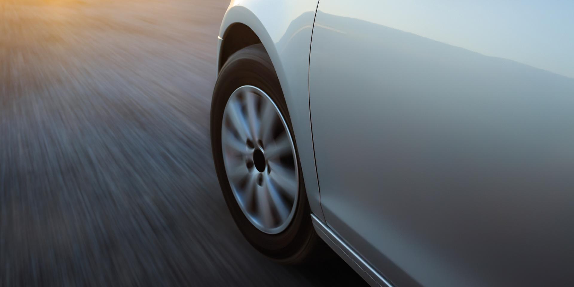 Close-up car tyre